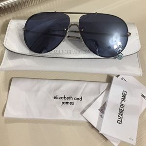Elizabeth & James Rider MirroredAviator Sunglasses